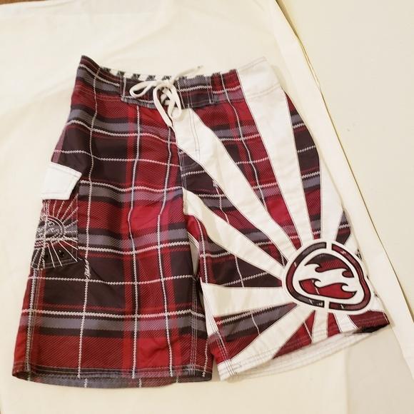 Billabong Other - Billabong Red, White, & Black Swim Trunks Size 30